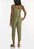Cropped Dyed Olive Jumpsuit alternate view