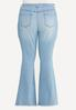 Plus Size High Rise Flare Jeans alternate view