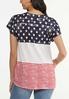 Plus Size Knotted Stars And Stripes Tee alternate view