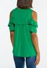 Plus Size Ruffled Cold Shoulder Top alternate view