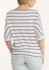 Plus Size Striped Thermal Top alternate view