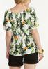 Plus Size Tropical Tie Front Top alternate view