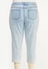 Plus Size Cropped Distressed Girlfriend Jeans alternate view