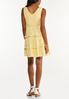 Yellow Tiered Babydoll Dress alternate view