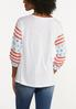 Plus Size Stars And Stripes Top alternate view