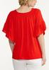 Red Flutter Sleeve Top alternate view