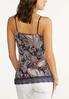 Plus Size Paisley Lace Trim Cami alternate view