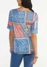Plus Size Paisley Patchwork Tee alternate view
