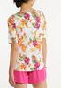 Plus Size Pink Floral Tee alternate view