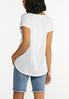 Plus Size Solid Rolled Cuff Tee alternate view