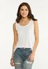 Plus Size Solid Ribbed Tank alt view