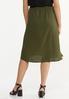 Plus Size Olive Midi Skirt alternate view