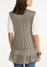 Plus Size Lightweight Tiered Vest alternate view