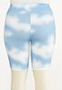 Plus Size Cloud Tie Dye Biker Shorts alternate view
