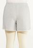 Plus Size French Terry Dolphin Shorts alternate view