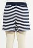 Plus Size Navy Stripe Shorts alternate view