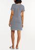 Plus Size Side Tie Striped Dress alternate view