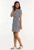 Plus Size Side Tie Striped Dress alt view