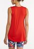 Plus Size Red Seamed Tank alternate view