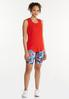 Plus Size Red Seamed Tank alt view