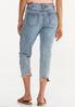 Cropped Distressed Boyfriend Jeans alternate view