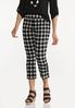 Cropped Gingham Flare Pants alt view
