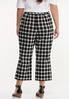 Plus Size Cropped Gingham Flare Pants alternate view