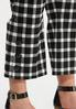 Plus Size Cropped Gingham Flare Pants alt view