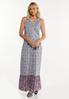Plus Size Bordered Floral Maxi Dress alt view