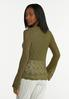 Olive Ruched Sweater alternate view