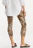 Cropped Leopard Leggings alternate view