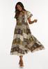 Plus Petite Smocked Aztec Maxi Dress alt view