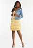 Sunshine Plaid Babydoll Dress alt view