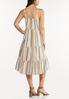 Plus Size Tiered Stripe Linen Dress alternate view