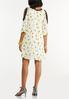 Plus Size Floral Lace Trim Dress alternate view