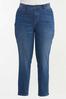 Plus Size Dark Wash Skinny Jeans alt view