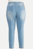 Plus Size Light Wash Skinny Jeans alternate view