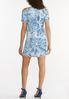 Plus Size Tie Dye Chambray Dress alternate view