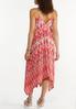 Plus Size Ikat Hanky Hem Dress alternate view