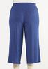 Plus Size Cropped Vintage Blue Pants alternate view
