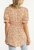 Peach Floral Babydoll Tunic alternate view