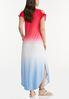 Plus Size Ombre Americana Maxi Dress alternate view