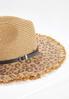 Leopard Straw Panama Hat alternate view