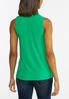 Plus Size Solid Smocked Tank alternate view