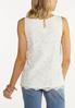Plus Size Ivory Lace Top alternate view