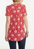 Plus Size Floral Puff Top alternate view
