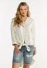 Plus Size Natural Linen Tunic alt view