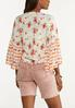 Floral Tie Front Cardigan Top alternate view