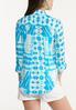 Plus Size Turquoise Tie Dye Top alternate view