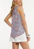 Plus Size Embellished Paisley Floral Tank alternate view